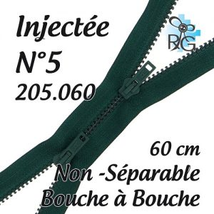 Fermeture injectée n°5 B à B non séparable 60 cm
