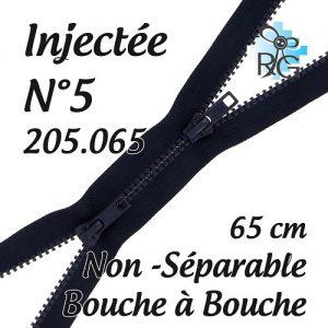 Fermeture injectée n°5 B à B non séparable 65 cm