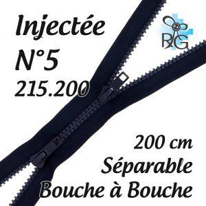 Fermeture injectée n°5 B à B séparable 200 cm