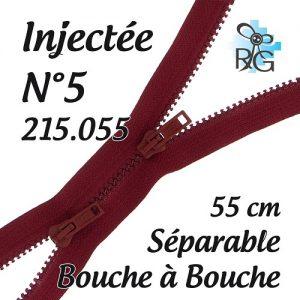 Fermeture injectée n°5 B à B séparable 55 cm