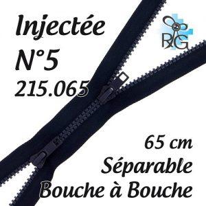 Fermeture injectée n°5 B à B séparable 65 cm