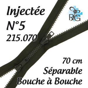 Fermeture injectée n°5 B à B séparable 70 cm