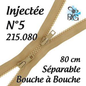 Fermeture injectée n°5 B à B séparable 80 cm