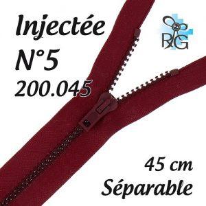 Fermeture injectée n°5 séparable 45 cm