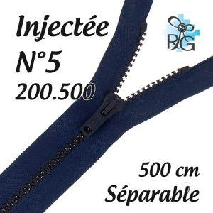 Fermeture injectée n°5 séparable 500 cm