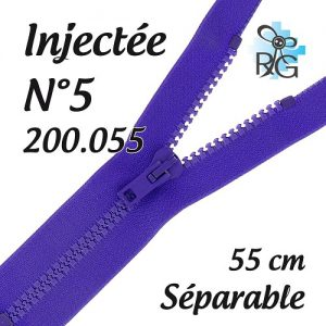 Fermeture injectée n°5 séparable 55 cm
