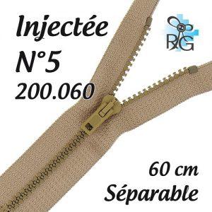 Fermeture injectée n°5 séparable 60 cm