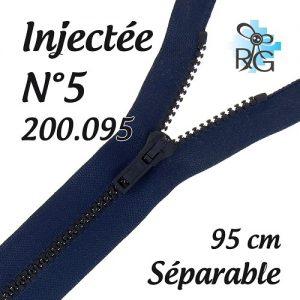 Fermeture injectée n°5 séparable 95 cm