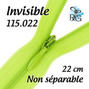 Fermeture invisible 22 cm
