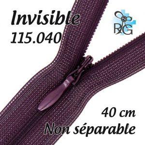 Fermeture invisible 40 cm