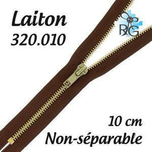 Fermeture laiton non séparable 10 cm