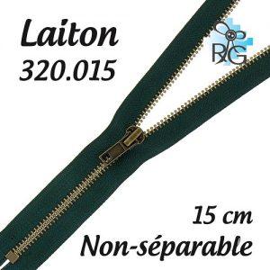 Fermeture laiton non séparable 15 cm