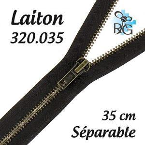 Fermeture laiton séparable 35 cm