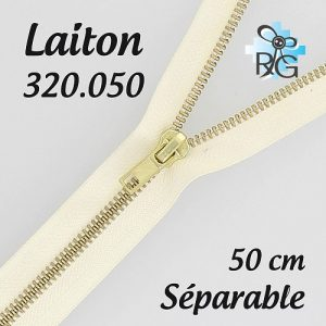 Fermeture laiton séparable 50 cm