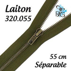 Fermeture laiton séparable 55 cm