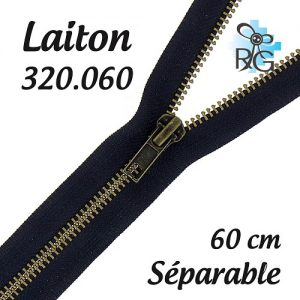 Fermeture laiton séparable 60 cm