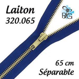 Fermeture laiton séparable 65 cm