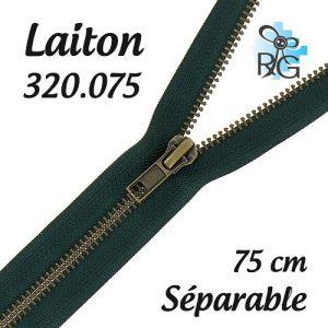 Fermeture laiton séparable 75 cm