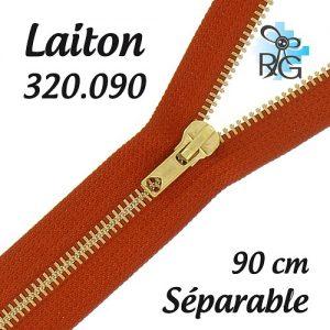 Fermeture laiton séparable 90 cm