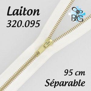 Fermeture laiton séparable 95 cm