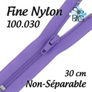 Fermeture nylon non séparable 30 cm