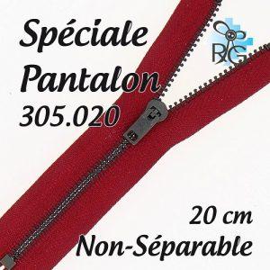 Fermeture spéciale pantalon non séparable 20 cm