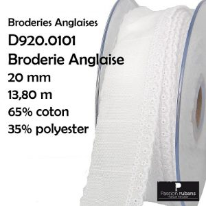 Disquette 13.50 m Broderie Anglaise 20 mm