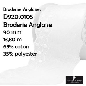 Disquette 13.80 m Broderie Anglaise 90 mm