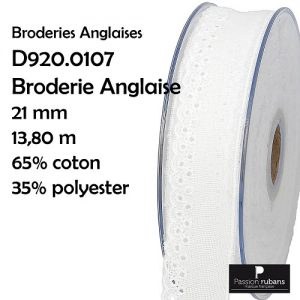 Disquette 13.80 m Broderie Anglaise 21 mm