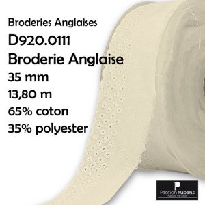 Disquette 13.80 m Broderie Anglaise 35 mm