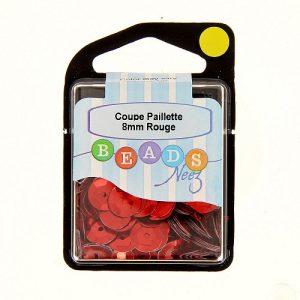Coupe paillette col.rouge 5 gr