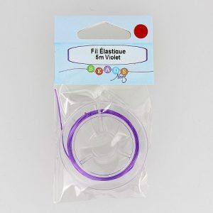 Fil élastique col.violet