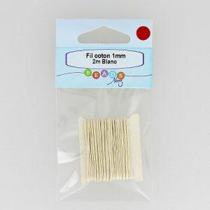 fil coton1mm x 2 m col. blanc