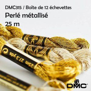 Boite 12 Echevettes 25 m perlé metallisé