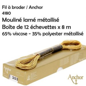 Boite 12 échevettes mouliné lamé métallisé 8 m