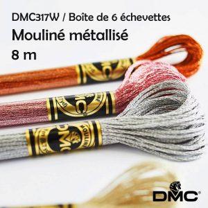 Boite 6 échevettes 8 m mouliné métallisé
