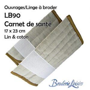 Carnet de santé lin - coton 17 x 23 cm