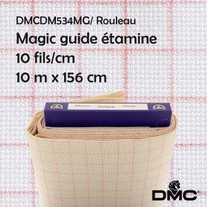 Rouleau 10 m toile Magic guide étamine 10 fils/cm