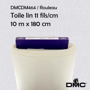 Rouleau 10 m toile lin 11 fils/cm - 180 cm