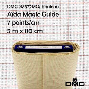 Rouleau 5 m Aïda Magic Guide 7 points/cm 110 cm