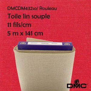 Rouleau 5 m toile souple lin 11 fils/cm 141cm