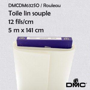 Rouleau 5 m toile souple lin 12 fils/cm - 141cm