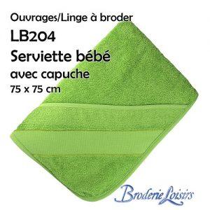 Serviette bébé avec capuche 75 x 75 cm