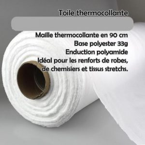 Entoilage thermocollant extensible, fin