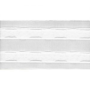Boite 50 m fronceur 70 mm -100% polyester tramé crain