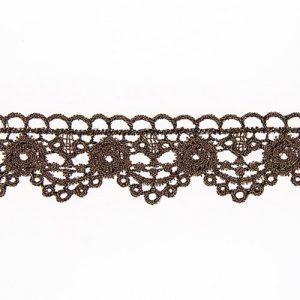 Bobine 13.7 m dentelle métallisée 28 mm