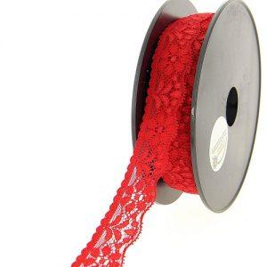 Disquette 25 m dentelle nylon extensible 26 mm