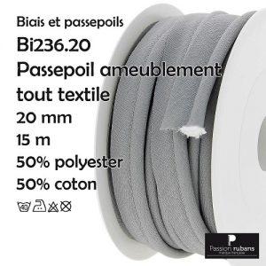 Bobine 15 m Passepoil Ameublement 20 mm