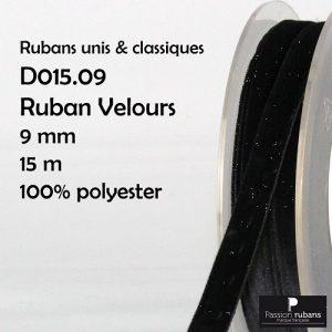 Bobine 15 m velours 9 mm