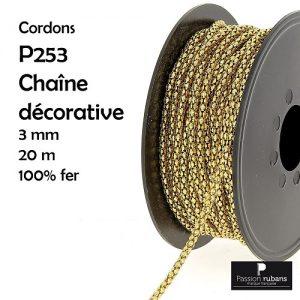 Bobine 20 m Chaîne décorative 3 mm